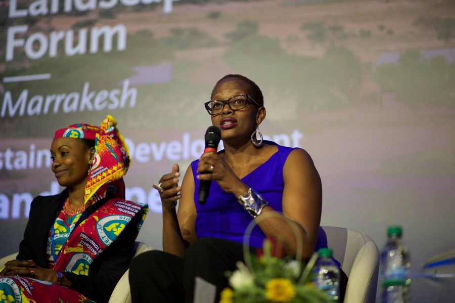 Wanjira Mathai at the Global Landscapes Forum event in Marrakesh, Morocco in 2016. Pilar Valbuena, CIFOR