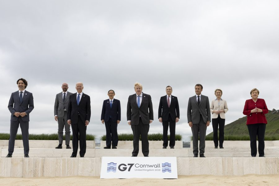 World leaders pose for a photograph during the G7 Summit at Cornwall this month. Number 10, Flickr