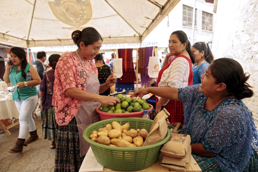 Rural women in Guatemala diversify their incomes by growing and making organic food products. UN Women