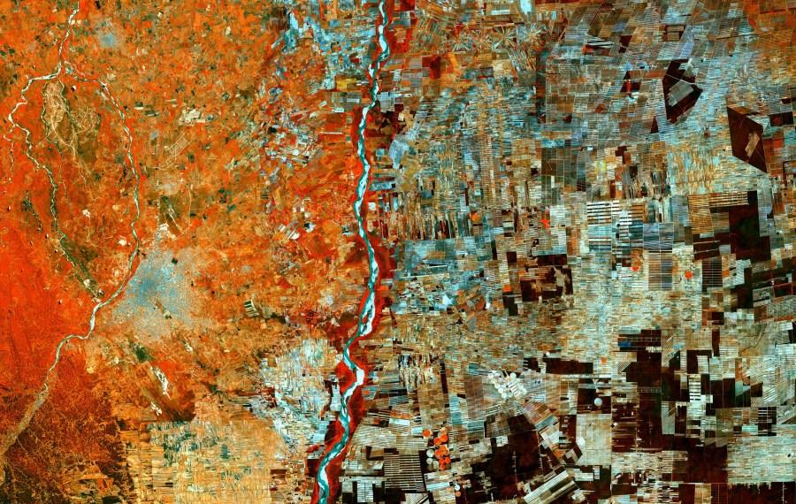Una imagen capturada por el satélite Copernicus Sentinel-2A en septiembre de 2017 muestra un área previamente boscosa de Bolivia ahora convertida en un mosaico de áreas de reasentamiento y agricultura.Agencia Espacial Europea