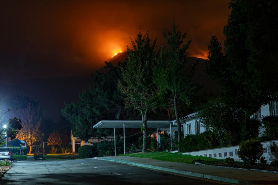 Bobcat Fire, California, late 2020