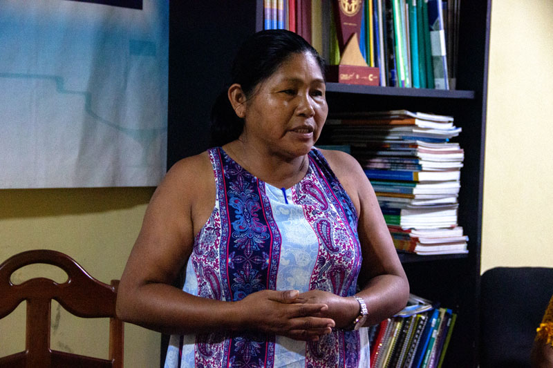 Kukama activist Mariluz Canaquiri is the granddaughter of a Banko, a traditional healer who would ask the underwater 'karuara' people which plants to use in healing processes. Angela Rodriguez, Actualidad Ambiental SPDA