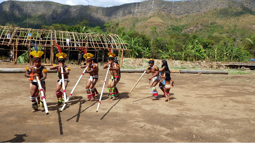 Ritual of the Yawalapiti people, whose language is the original of the Upper Xingu, currently spoken by only three people. Jean Marconi/CC BY-NC-SA 2.0.