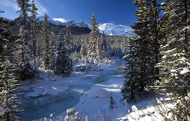 Kananaskis Trail - winter road trips in Canada