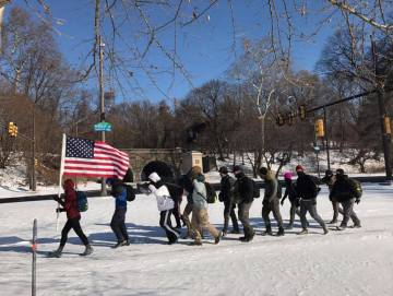 Cadre Cleve captured all this America in a winter wonderland.