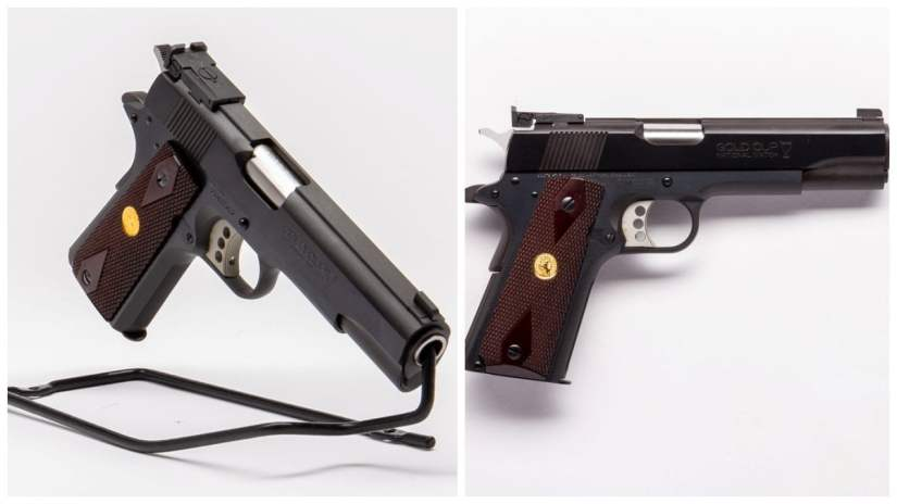 Gold Cup National Match, of recent manufacture, is one of Colt's Series 70 O5870A1 style flat tops
