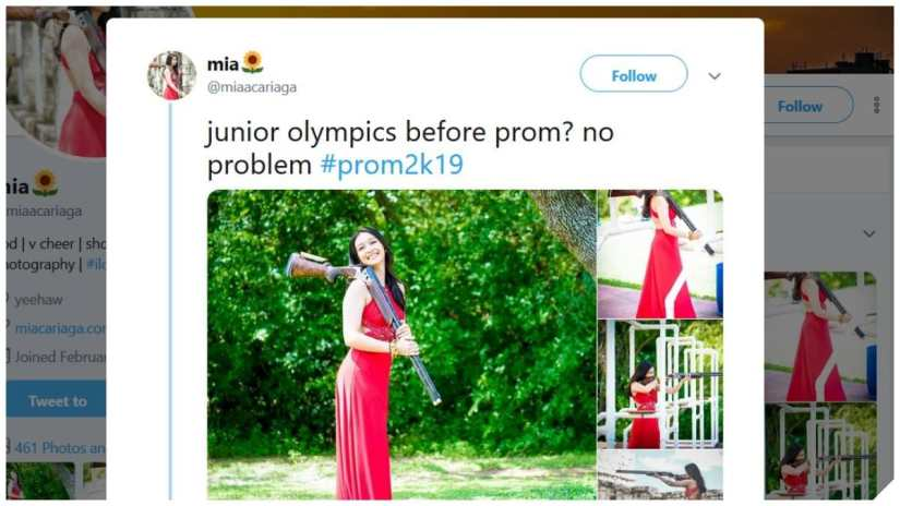 Junior Shooting Sports Athelete Stuns in Prom Pics