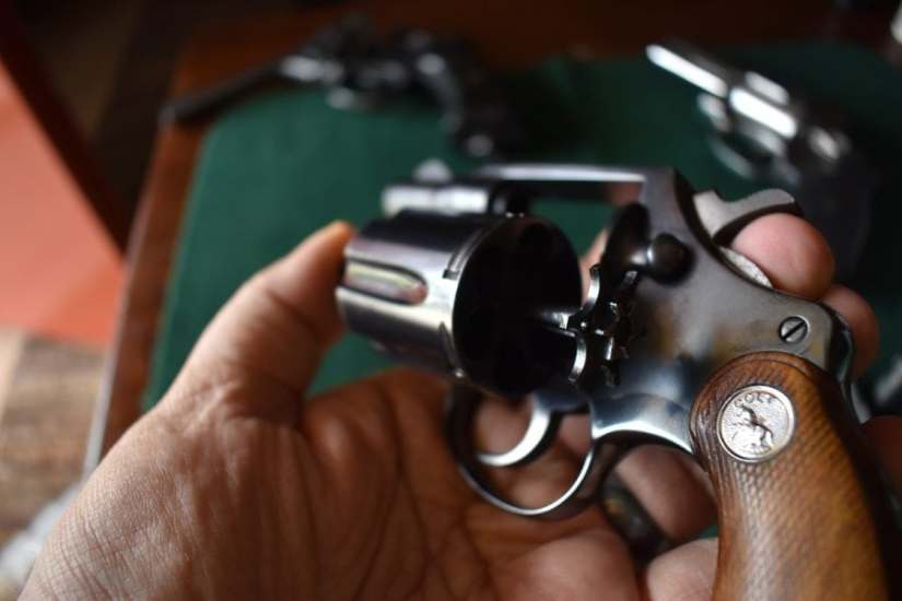 Pay close attention to the revolver's cylinder and make sure you have cleaned out each chamber in turn, paying attention to the clear under the ejector star as well as its rod.