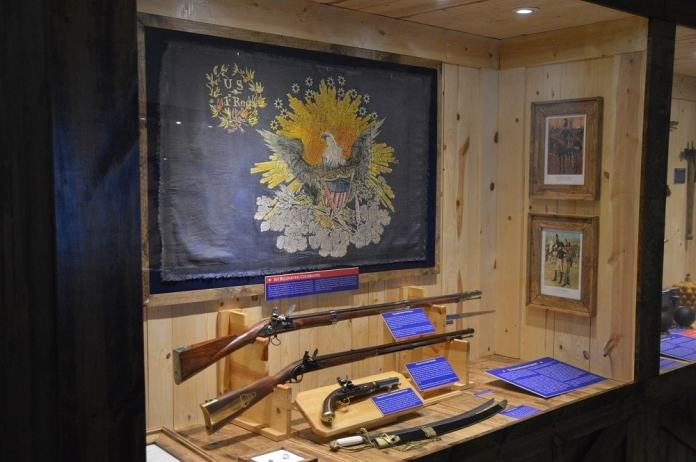 The guns of the War of 1812 such as the 1795 Springfield and 1801 Harpers Ferry rifle