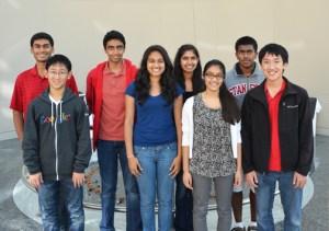 2012 Siemens Finalists and Semifinalists L-R: Rohan Chandra, Andrew Zhang, Ravi Tadinada, Paulomi Bhattacharya, Anika Gupta, Zareen Choudhury, Ashvi Swaminathan, Andrew Luo. Not pictured Saachi Jain, Kevin Susai.