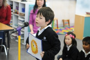 Kindergartners Chat with Tamagawa Buddies During Video Conferences