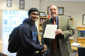 Senior Rohan Chandra Named Distinguished Finalist in Prudential Spirit of Community Awards, Receives Letter from White House