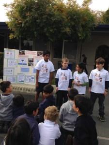 Grade 3 Students Cheer on Classmates During Robotics Tournament Practice Presentation