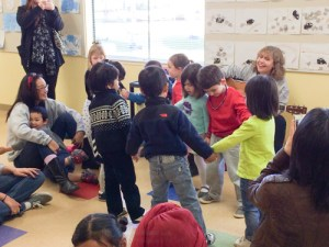 Harker Preschool Holds First Sing-A-Long Just Before Winter Break