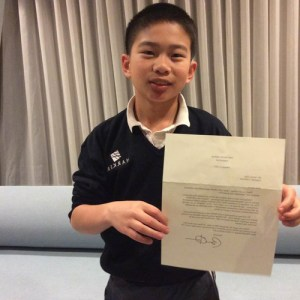 Grade 6 Student Receives Letter From the President