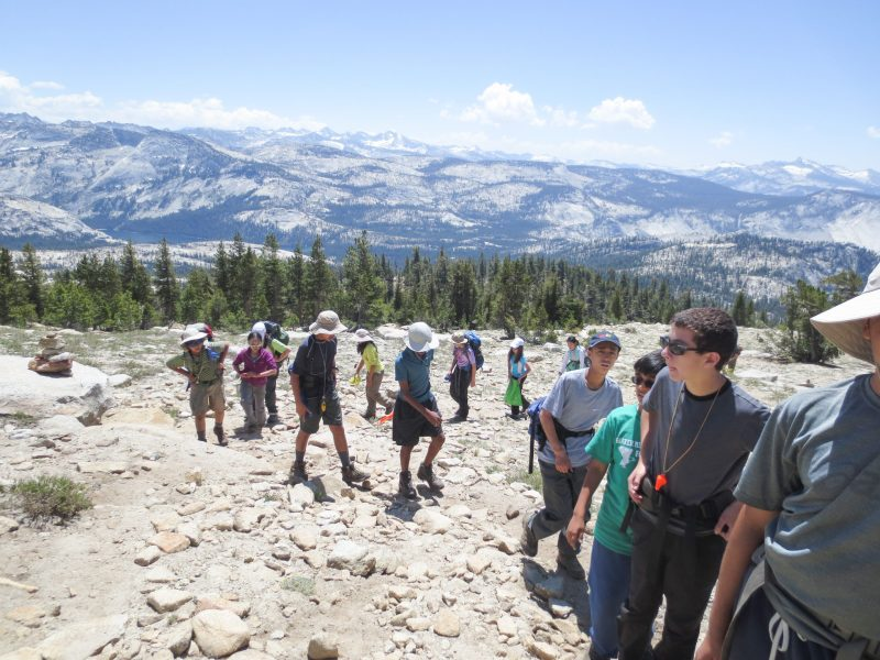 California is the Classroom for Successful Middle School Backpacking Trip