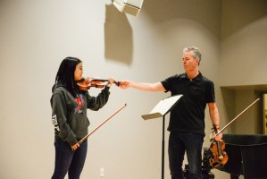 Violinist Frank Almond Gives Master Class Prior to Concert Series Performance