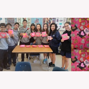 Advisory Makes Valentines for Meals on Wheels Recipients