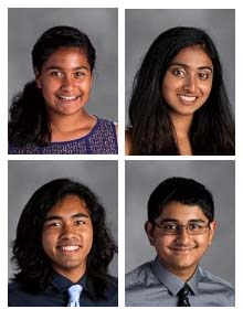 Four Students Named to Prestigious National Choir
