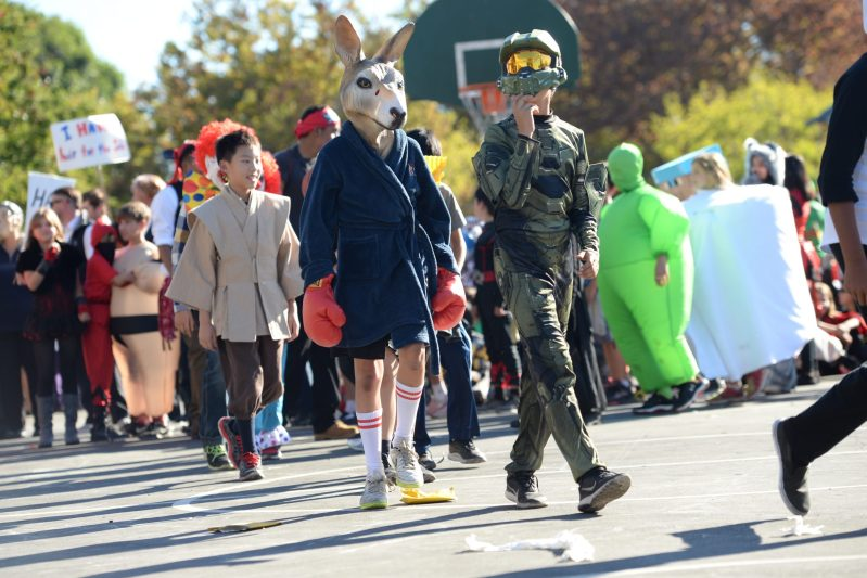Lower School Students Display Creative Costumes at 18th Annual Halloween Parade
