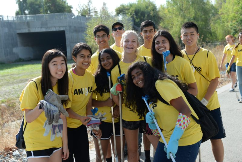Grade 9 Class Heads to Guadalupe River Park Conservancy for Community Service Day