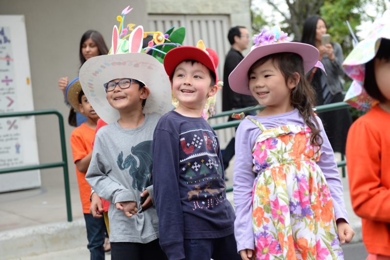 Kindergarten Students Proudly Display Homemade Headwear During Annual Spring Hat Parade!
