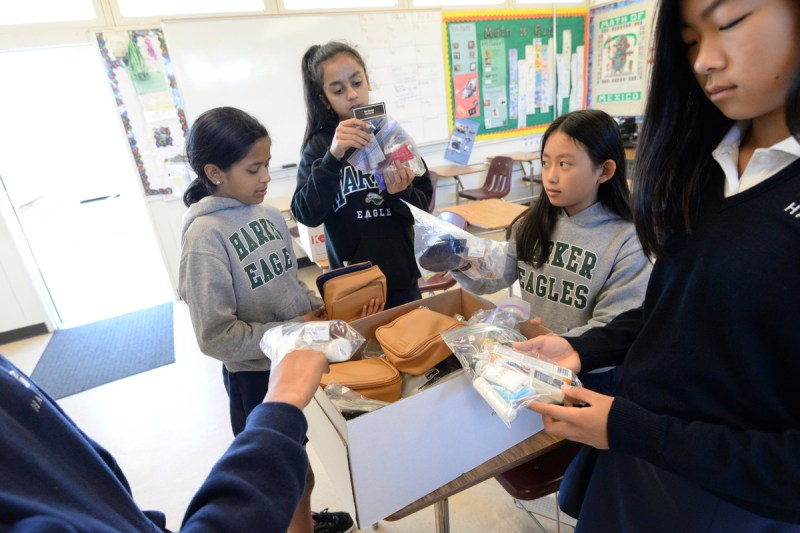 Middle School Students Create Shelter Packets for Homeless Women and Children