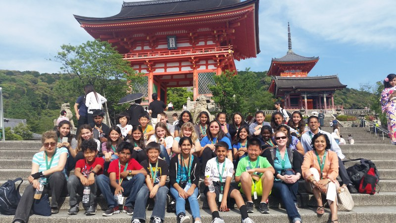 Students Visit Japan, Bond with Buddies and Tour Cultural Landmarks