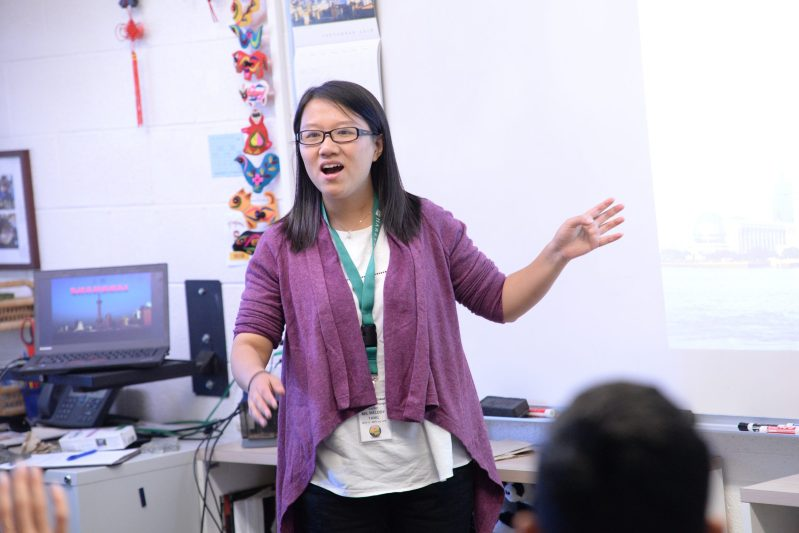 WFLMS Teacher Travels from Shanghai for Yearly Exchange