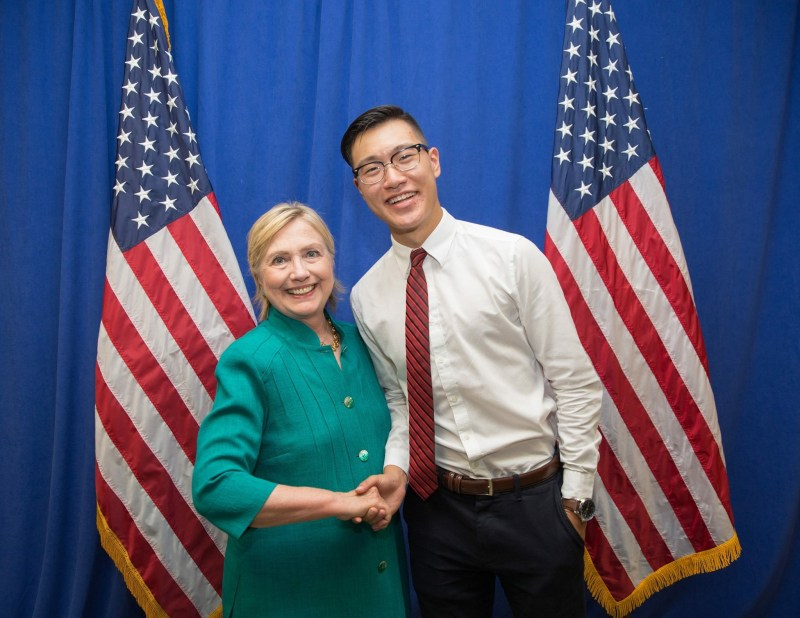Alum Felix Wu '15 Speaks at Des Moines Rally For Clinton Campaign