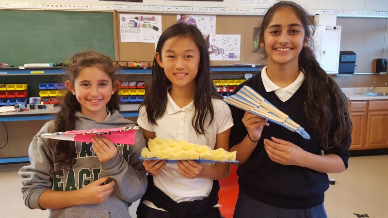 Paper Airplanes Enhanced at Middle School Innovation Lab