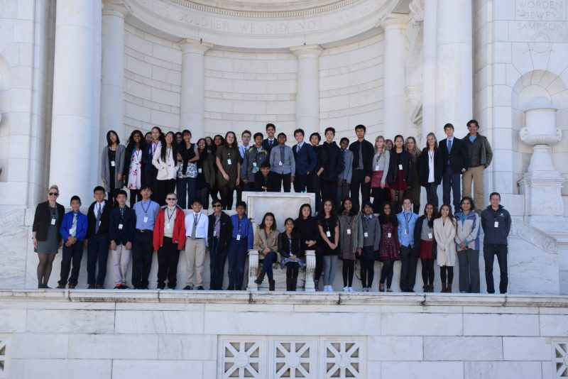 Grade 8 explores the nation's capital and surrounding landmarks