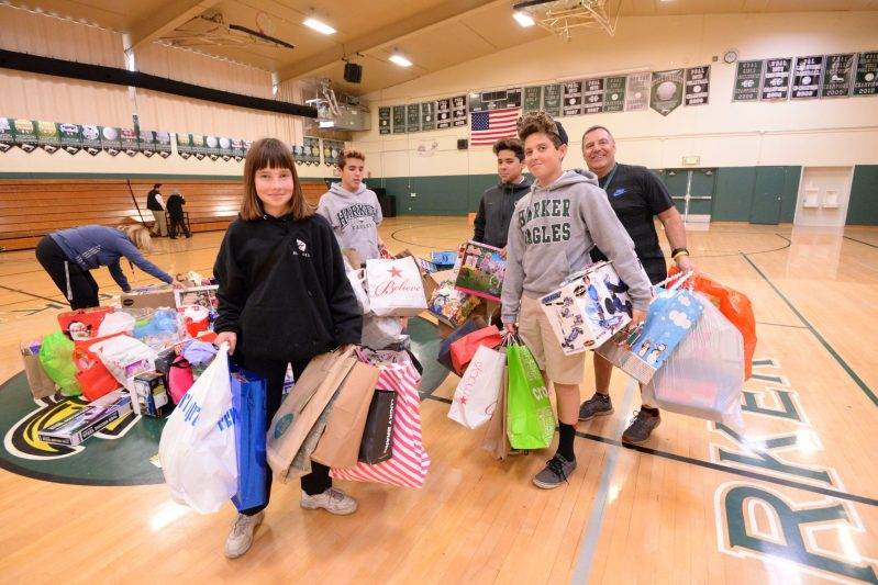 Middle school students gather 350 gifts for Family Giving Tree holiday drive