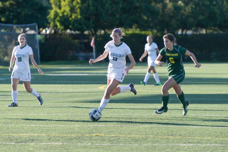 Girls soccer keeps rolling and Thompson becomes Harker's career-scoring leader