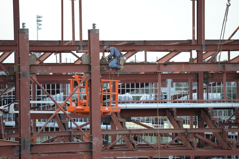 Steel in the sky: performing arts and athletic centers' strength on display