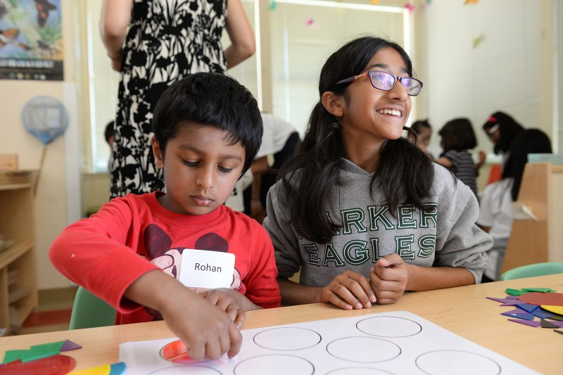 Math Buddies: Fifth graders join preschoolers for fun with numbers