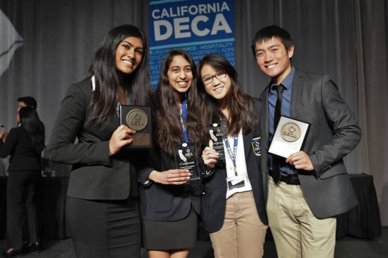 Harker DECA dominates State Career Development Conference with record number of top 10 winners
