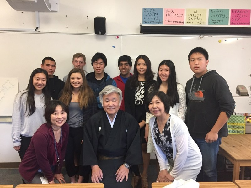 Japanese musician visits classroom, performs for students