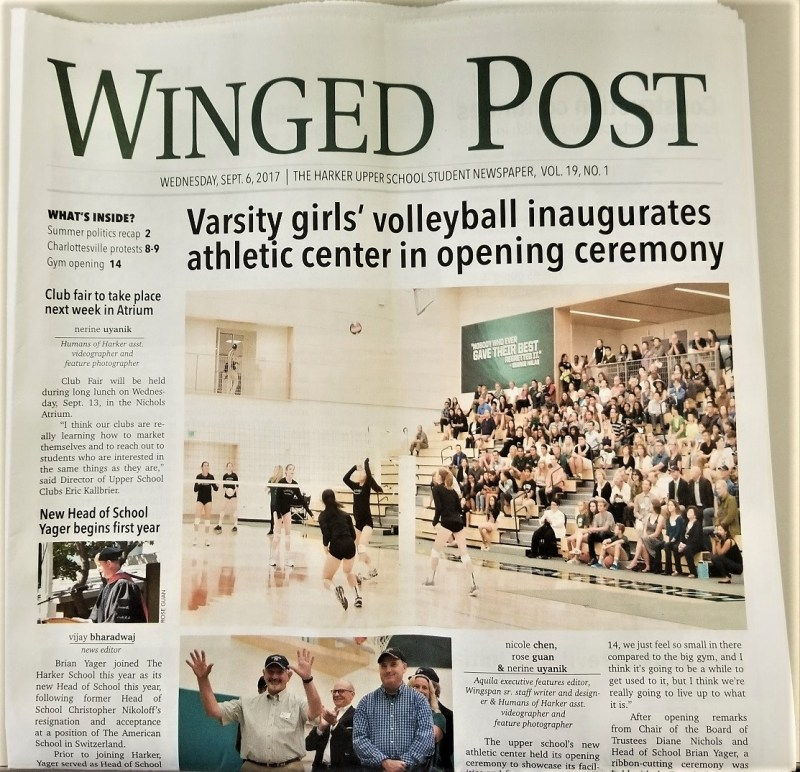 Winged Post named a finalist for NSPA Pacemaker award
