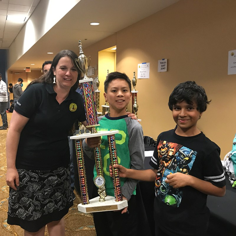 Success for lower and middle school chess competitors at national championship