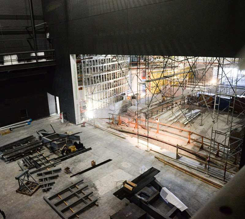 Performing arts center magic starts in lobby, rises to the fly