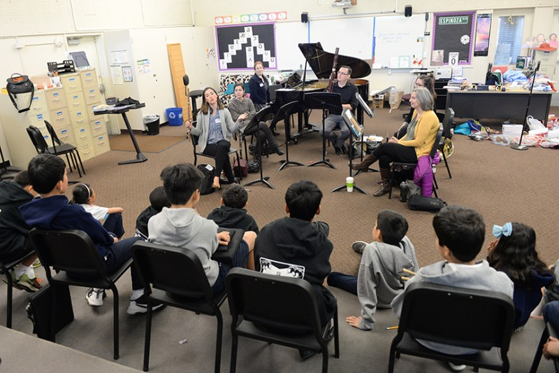 Chamber ensemble Frequency 49 visits middle school music class