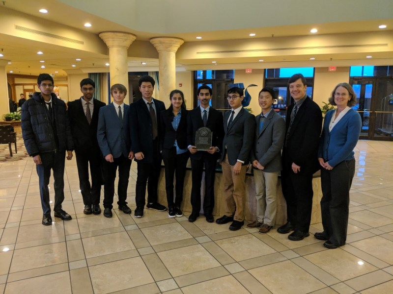 Harker team places second at U.S. Invitational Young Physicists Tournament