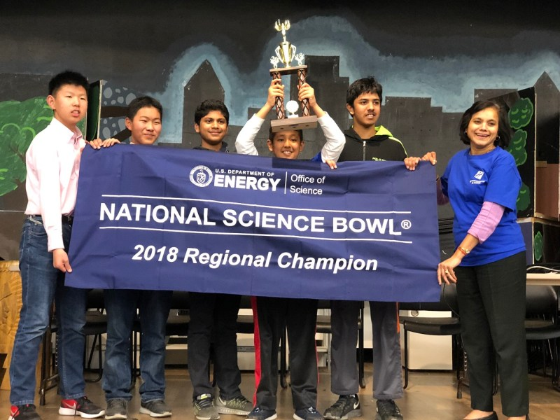 MS Science Bowl teams exceptional at regional event, one team moves on to nationals