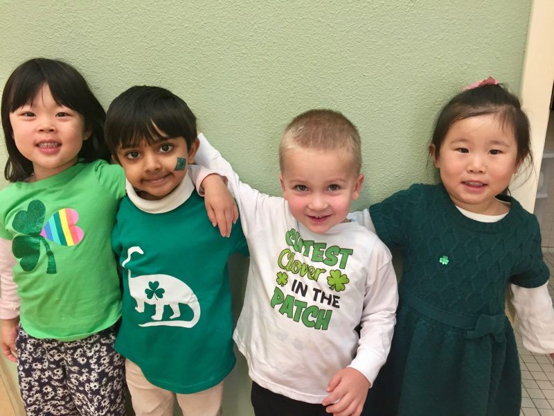 Preschool celebrates St. Patrick's Day with green activities