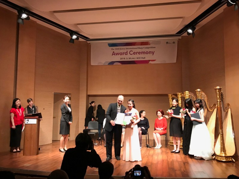 Junior takes second in youth division at Korea International Harp Competition