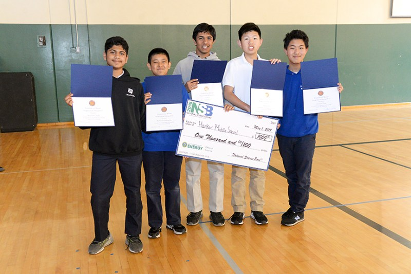 MS Science Bowl finalists receive commendations from Congresswoman Eshoo