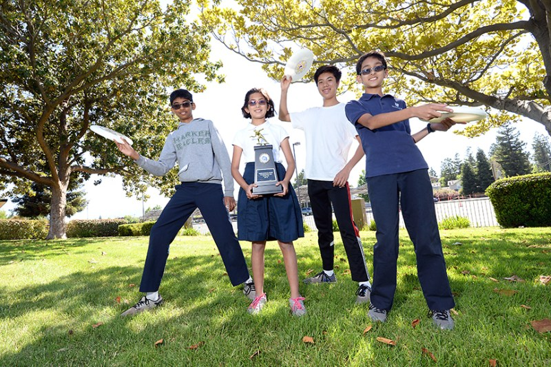 Harker students' team wins middle school Ultimate (Frisbee) championship
