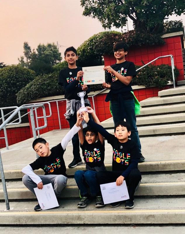 Grade 5 robotics team earns spot at Northern California championship