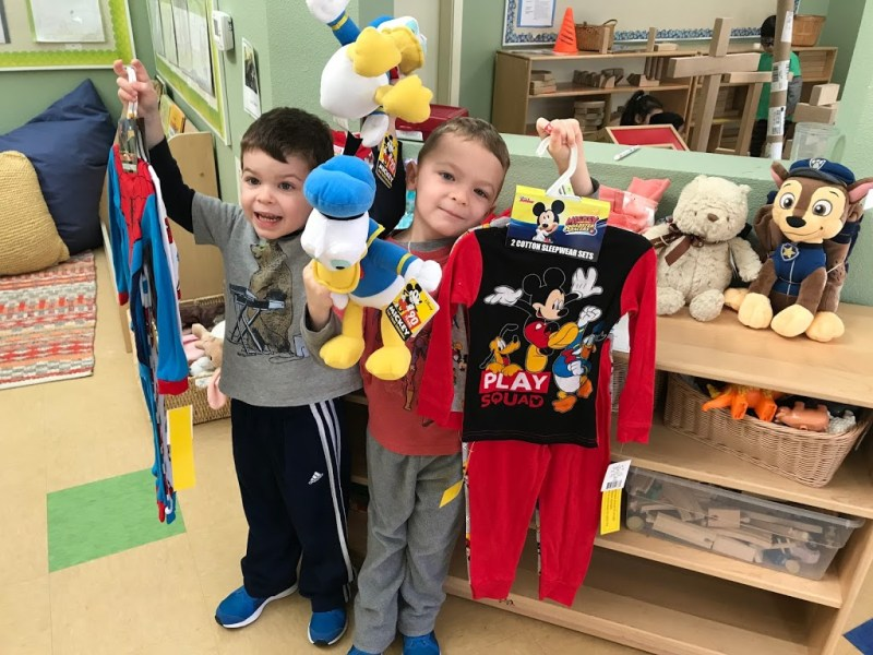 Harker Preschool comfy on Pajama Day, collects pajamas for others, too